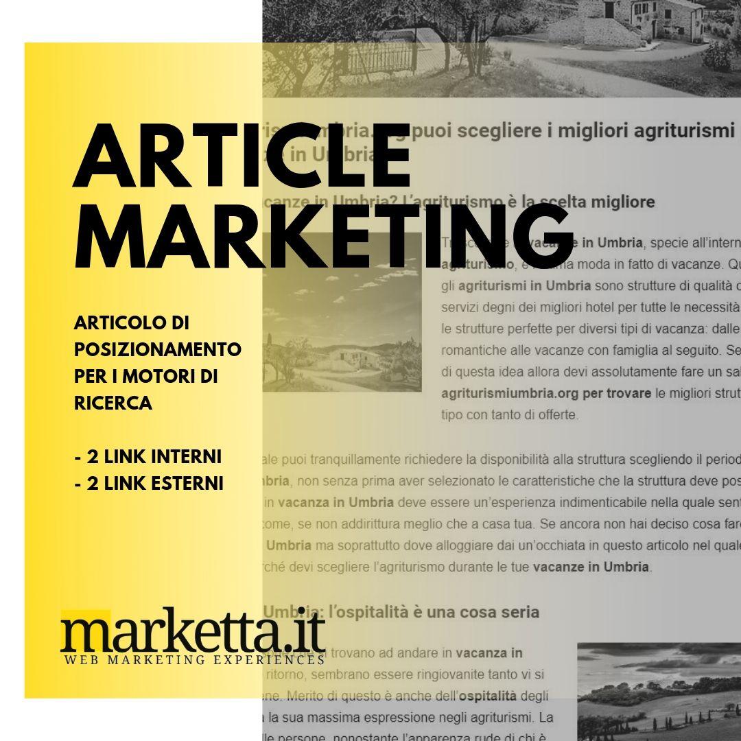 Article marketing Marketta