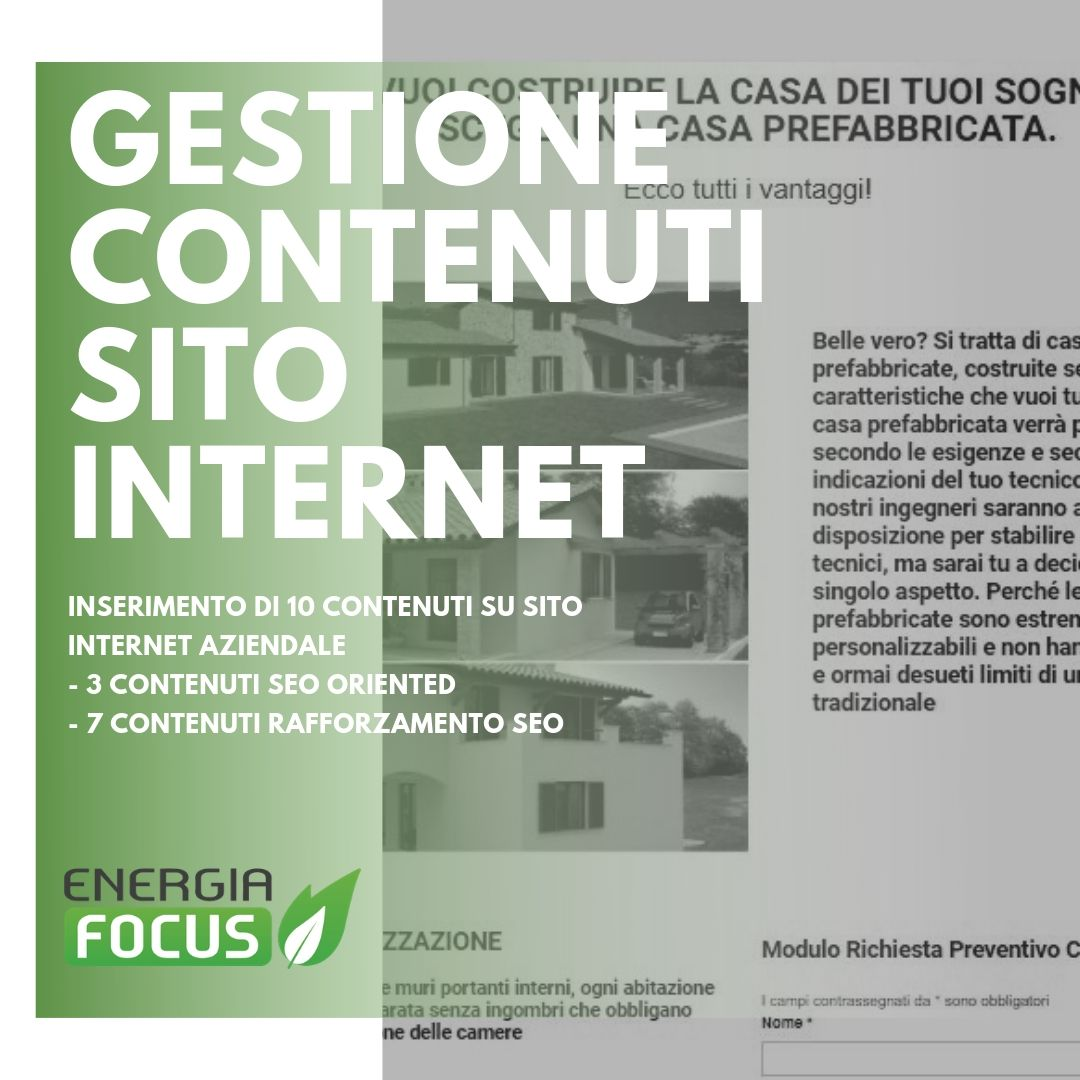 Gestione Contenuti EnergiaFocus