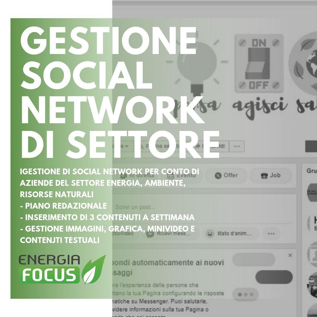 Gestione Social Network EnergiaFocus