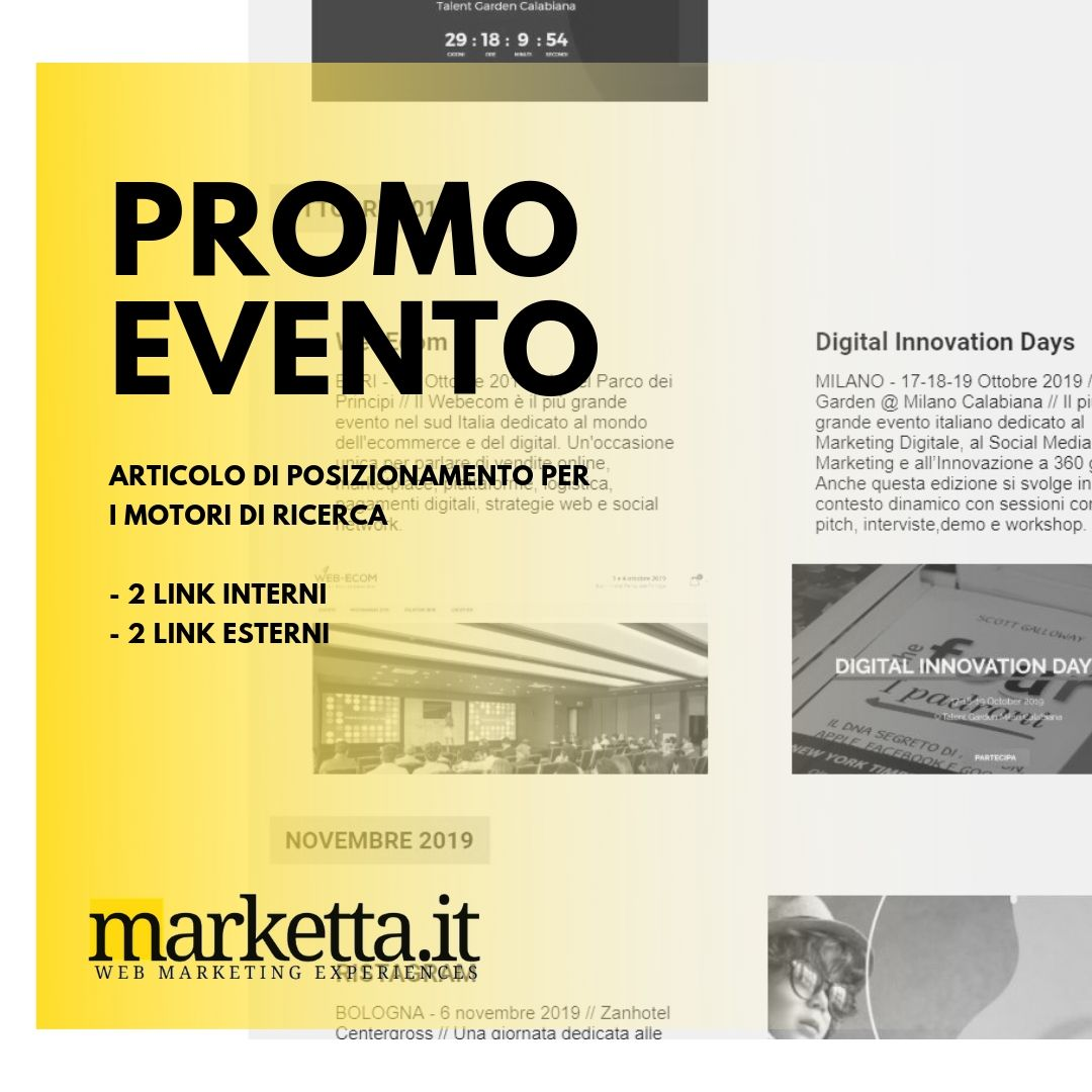 PROMO EVENTO Marketta